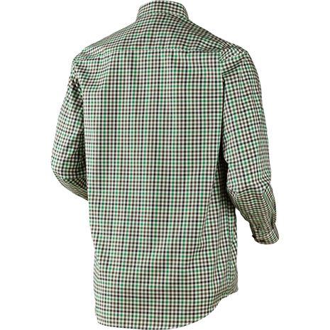 Harkila Milford Cotton Checked Shirt - Rear Green Check