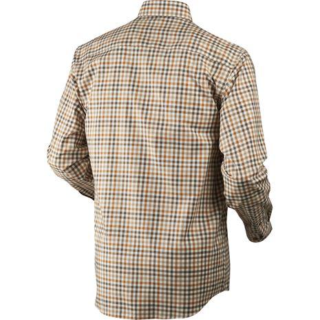 Harkila Milford Cotton Checked Shirt - Rear Spice Check