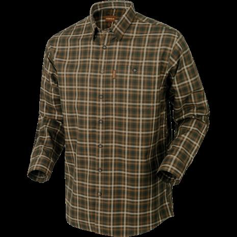 Harkila Milford Cotton Checked Shirt - Willow Green