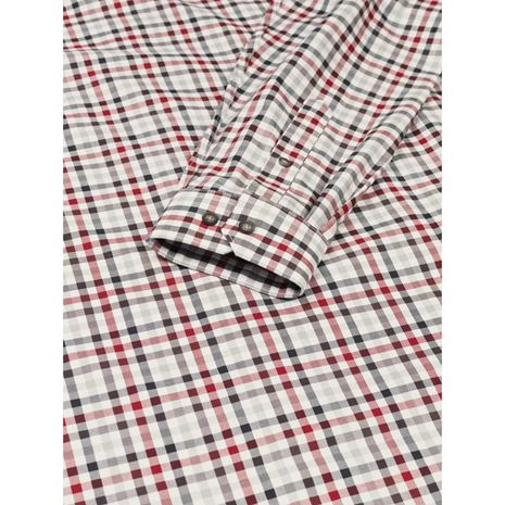 Harkila Milford Cotton Checked Shirt  - Jester Red