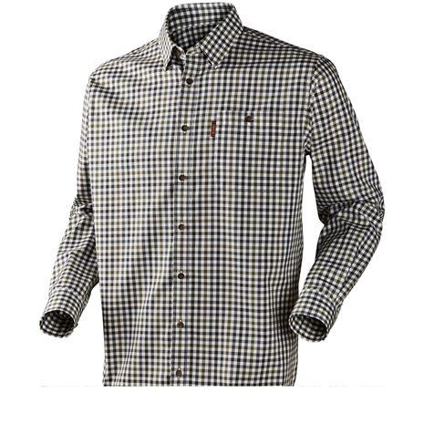 Harkila Milford Cotton Checked Shirt - Stone Check