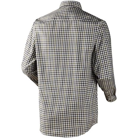 Harkila Milford Cotton Checked Shirt - Rear Stone Check
