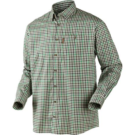 Harkila Milford Cotton Checked Shirt - Green Check