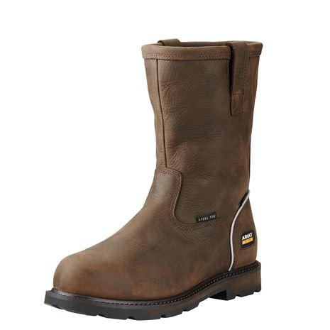 Ariat Men's Groundbreaker Pull On H2O Boots - Dark Brown