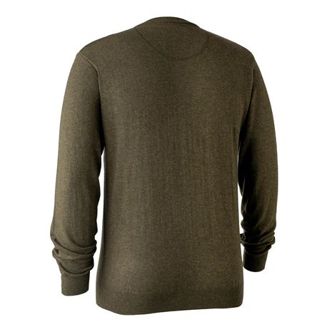 Deerhunter Kingston Knit V-Neck Jumper - Cypress