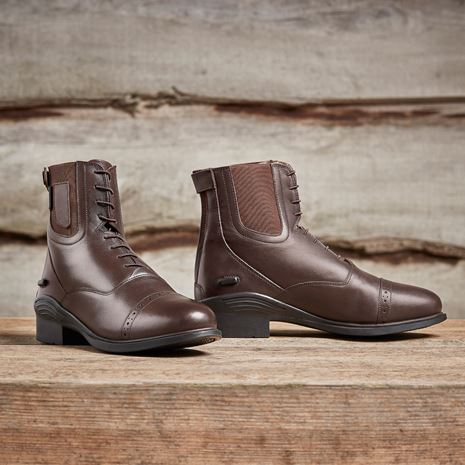 Dublin Evolution Lace Front Paddock Boots - Brown