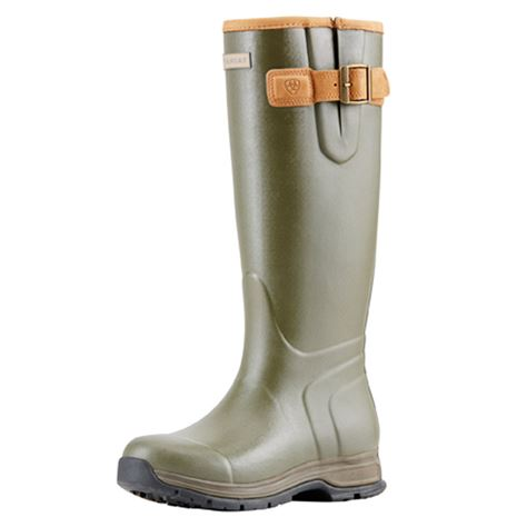 Ariat Men's Burford Insulated Wellington Boots - Olive Green