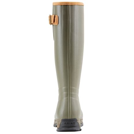 Ariat Men's Burford Insulated Wellington Boots - Olive Green - Rear