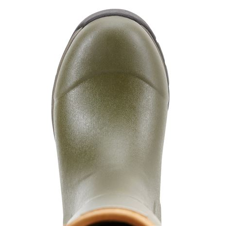Ariat Men's Burford Insulated Wellington Boots - Olive Green - Toe Detail