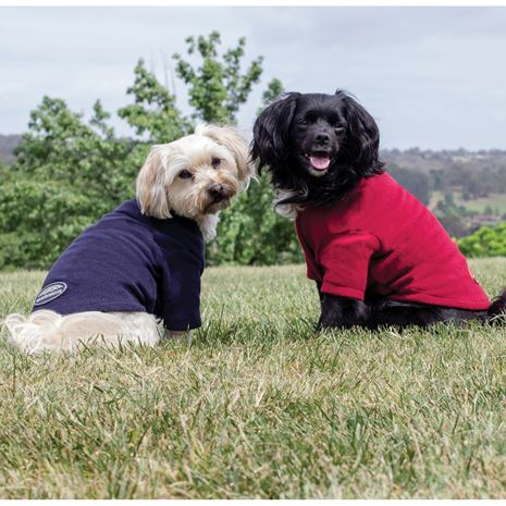 WeatherBeeta Comfitec Fleece Dog Jumper in Navy or Burgundy