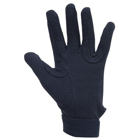 Dublin Track Riding Gloves - Navy - Palm