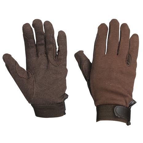 Dublin Track Riding Gloves - Brown