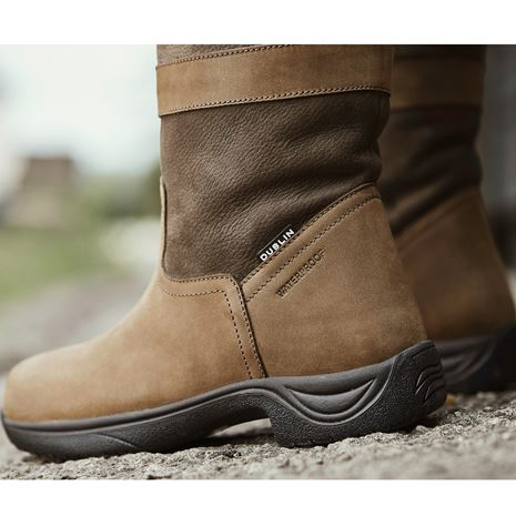 Dublin Eskimo Boots II - Dark Brown - Heel Detail