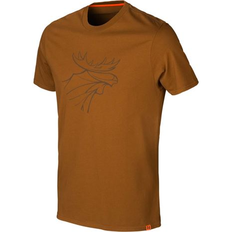 Härkila graphic t-shirt 2-pack - Willow green/Rustique clay