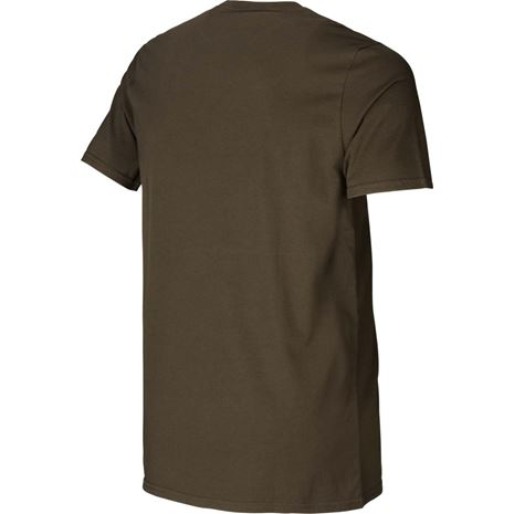 Härkila graphic t-shirt 2-pack - Willow green/Slate Brown
