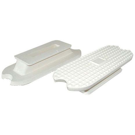 JHL Fillis Stirrup Treads - White - Pair