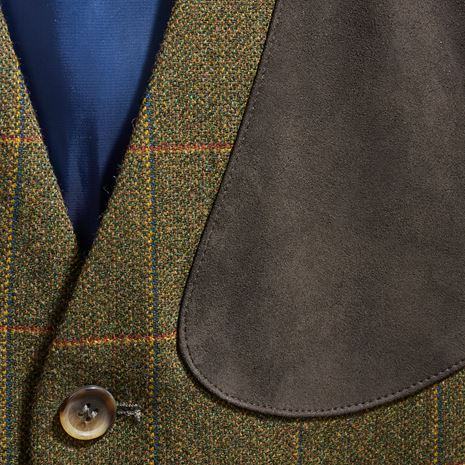 Musto Lightweight Machine Washable Technical Tweed Waistcoat - Balmoral