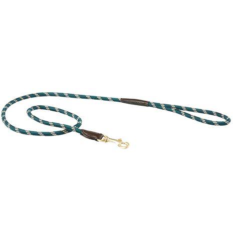 WeatherBeeta Rope Leather Dog Lead - Green/Brown
