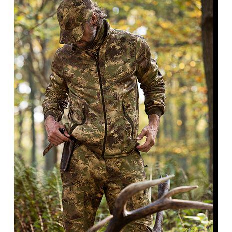 Harkila Lynx Full Zip Fleece - AXIS MSP Forest Green - Lifestyle