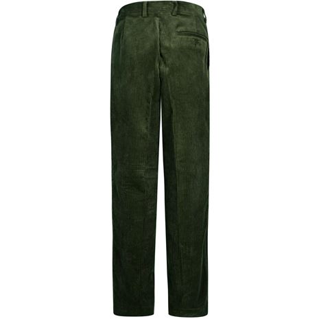 Hoggs of Fife Heavyweight Cord Trousers - Dark Olive - Rear