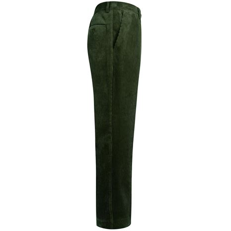 Hoggs of Fife Heavyweight Cord Trousers - Dark Olive - Side
