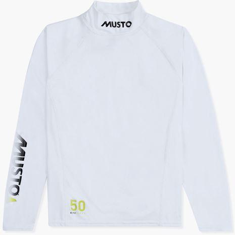 Musto Youth Championship Sunblock Long Sleeve Rash Vest - White
