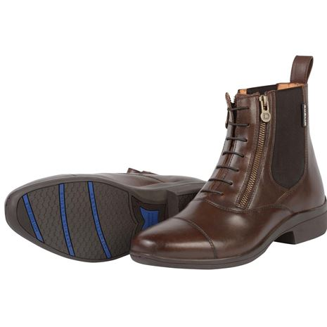 Dublin Paramount Side Zip Paddock Boots - Brown