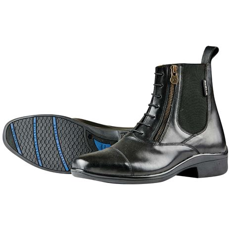 Dublin Paramount Side Zip Paddock Boots - Black