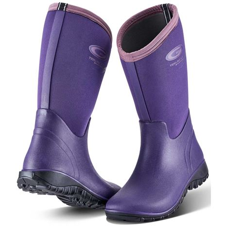 Grubs Tideline Wellington Boot - Plum