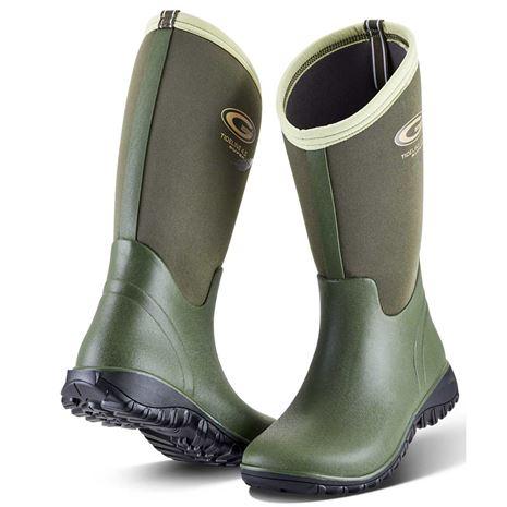 Grubs Tideline Wellington Boot - Olive