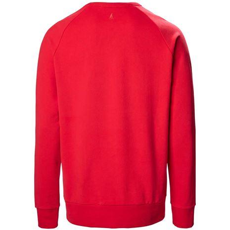 Musto Evolution Logo Crew Sweat - True Red