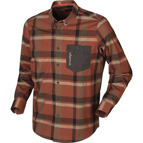 Harkila - Amlet Shirt  - Dark Burnt Orange Check