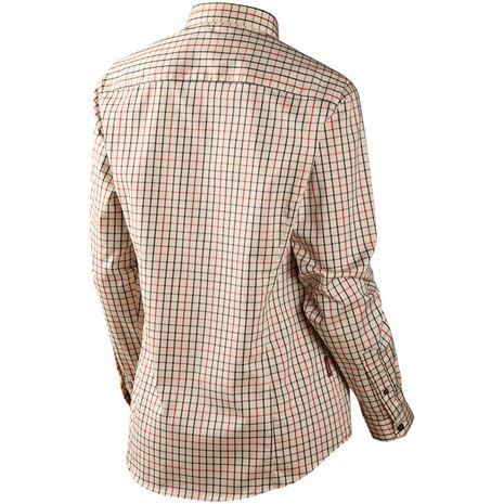 Harkila Lancaster Lady Shirt - Rear - Red Check