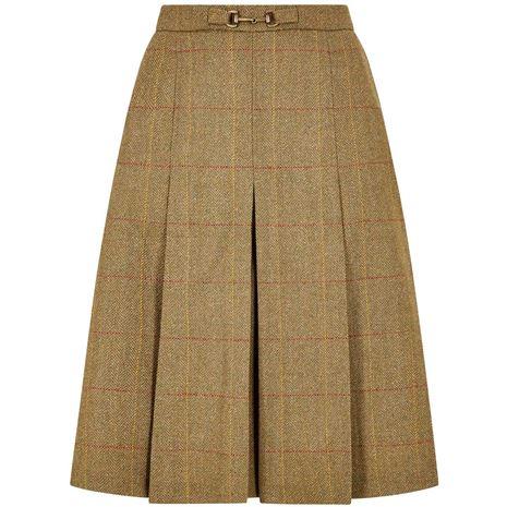 Dubarry Spruce Pleated Tweed Skirt - Elm