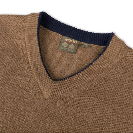 Musto Shooting V-Neck - Toffee