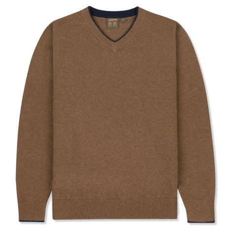 Musto Shooting V-Neck- Toffee