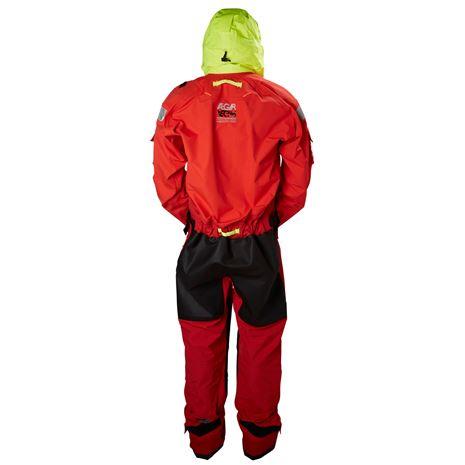 Helly Hansen Aegir Ocean Dry Suit - Alert Red - Rear