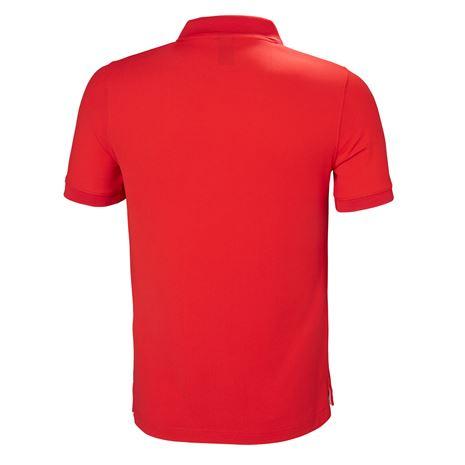 Helly Hansen Crewline Polo Shirt - Alert Red - Rear