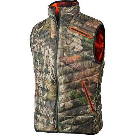 Harkila Moose Hunter Reversible Waistcoat - Mossy Oak Break-up Country /Mossy Oak Orange Blaze