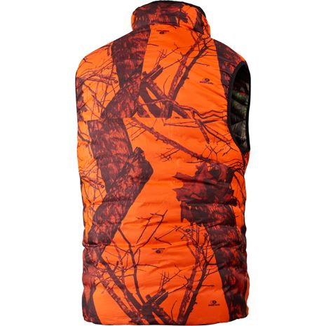 Harkila Moose Hunter Reversible Waistcoat - Rear - Mossy Oak Break-up Country /Mossy Oak Orange Blaze
