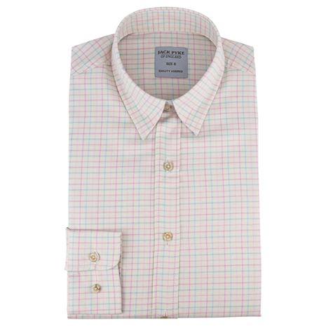 Jack Pyke Ladies Countryman Shirt - Pink Check