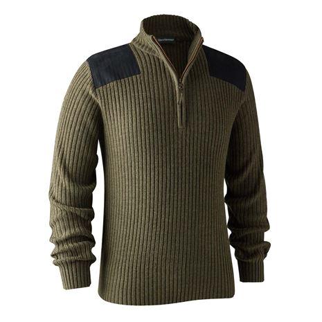 Deerhunter Rogaland Knit with Zip neck - Green