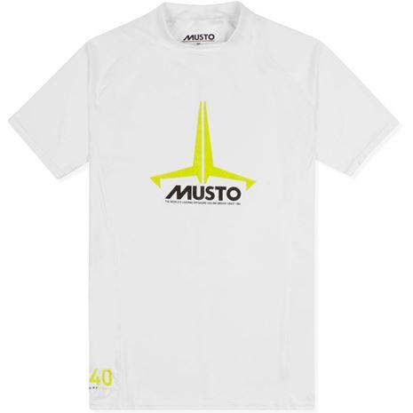 Musto Youth Insignia UV Fast Dry Short Sleeve T-Shirt - White