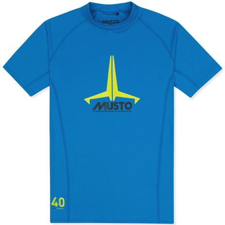 Musto Youth Insignia UV Fast Dry Short Sleeve T-Shirt - Brilliant Blue