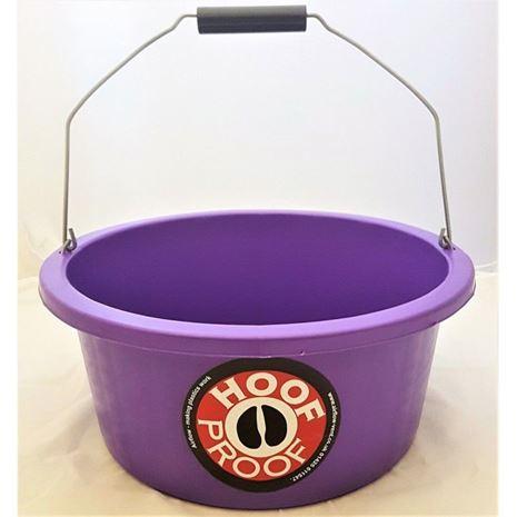 Hoof Proof Shallow Feeder Multi Purpose Bucket 15L-Purple