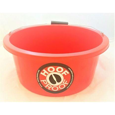 Hoof Proof Shallow Feeder Multi Purpose Bucket 15L-Red