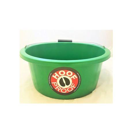 Hoof Proof Shallow Feeder Multi Purpose Bucket 15L-Green