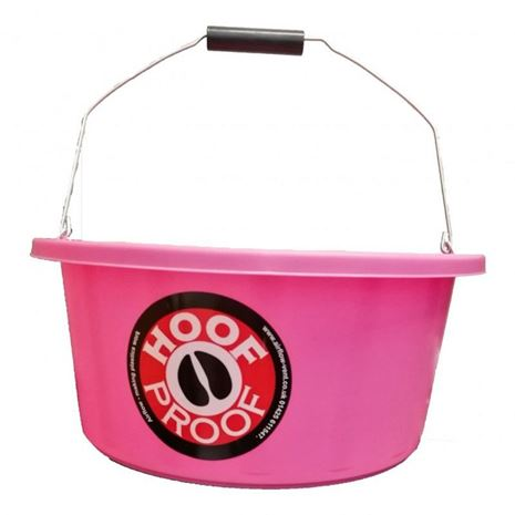 Hoof Proof Shallow Feeder Multi Purpose Bucket 15L-Pink