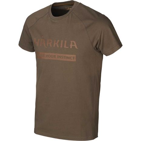 Harkila Logo T-Shirt (2 Pack) - Willow Brown