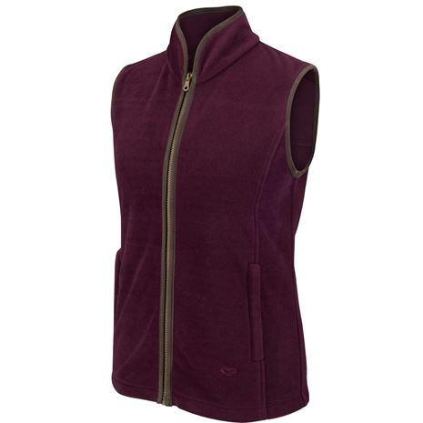Hoggs of Fife Stenton Ladies Fleece Gilet - Merlot